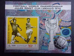 YEMEN JEMEN YAR MI-NR BLOC 132A MNH/NEUF** FOOTBALL MEXICO 1970 - Fußball-Weltmeisterschaft