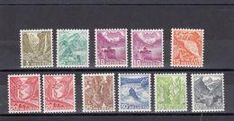 Suisse - Année 1936 - N° YT 289a**/297a** +291aa**+293aa** -  Paysages Type De 1934 Modifiés Et Gravés - Papier Gaufré - Unused Stamps