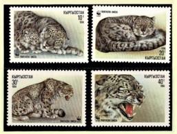 Kyrgystan 1994 Snow Leopard WWF Set Of 4 MNH - Kirghizistan