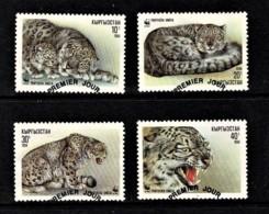Kyrgystan 1994 Snow Leopard WWF Set Of 4 Used - Kirghizistan