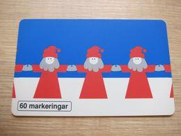 60 Markeringar Chip Phonecard,1994 Christmas, 2000 Pieces,used - Zweden
