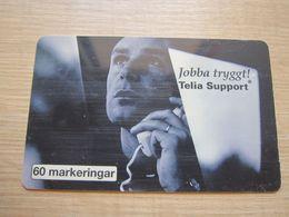 60 Markeringar Chip Phonecard,Telia Support, 5000 Pieces,used - Zweden