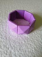 Vintage Lilac Plastic Faceted Tile Stretch Bracelet - Bracelets