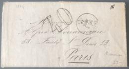 France 1874 - Taxe 40 - Lettre D'un Prisonnier Politique Détenu De La Maison Centrale D'Embrun - (B2889) - 1849-1876: Periodo Classico