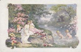 Cpa-illust.- Vienne- H. Christ N°196-pas Sur Delc.-scene De Vie Champetre-enfants Jouant-art Deco / Nouveau - Vienne