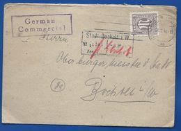Enveloppe   Affranchi à 3 AM POST   Oblitération: MUNSTER 28/2/1946 - Zone Anglo-Américaine