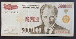 FD0513 - Turkey 5000000 Lira Banknote 2011 - Turkey