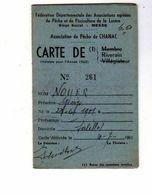 CARTE De La Fèdèration Dèpartementale De Pèche Et De Pisciculture De La Lozère De 1963 - Documents Historiques