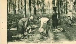 040620A - 40 FORET LANDAISE Résinage Des Pins - Après La Cueillette Mise En Réservoir - Résinier Métier - Unclassified
