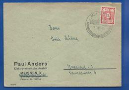 Enveloppe  SAXE ORIENTALE Affranchi à 12  Oblitération:  MEISSEN 24/11/1945 - American,British And Russian Zone