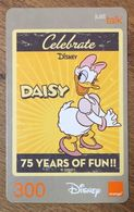 DISNEY DAISY THAÏLANDE ORANGE RECHARGE GSM PREPAID PRÉPAYÉE - Disney