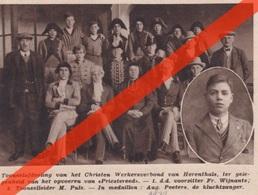 HERENTALS - TONEELAFDELING - AUGUST PEETERS KLUCHTZANGER -1932 - Documents Historiques