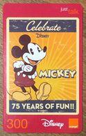 DISNEY MICKEY THAÏLANDE ORANGE RECHARGE GSM PREPAID PRÉPAYÉE - Disney