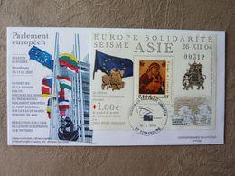 2004/2005  Parlement Européen Solidarité Asie  Y&T = 3717 Oblitéré Cachet Strasbourg - Covers & Documents