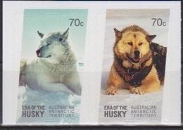 AAT, TP N° 223, 224 (Husky Blanc, Husky Sable), Neufs **, Autocollant - Territoire Antarctique Australien (AAT)