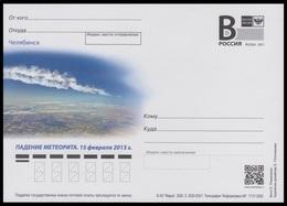 RUSSIA 2020 ENTIER POSTCARD 033/1 CHELYABINSK METEORITE METEORIT ASTRONOMY ASTRONOMIE SCIENCE - Astronomy