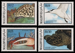 Malediven 1986 - Mi-Nr. 1202-1205 ** - MNH - Meeresleben / Marine Life - Maldives (1965-...)