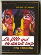 """{42008}  DVD """" La Fille Qui En Savait Trop """" Saxon Roman , Réalisation M Bava  . """" En Baisse """" - Policiers"""