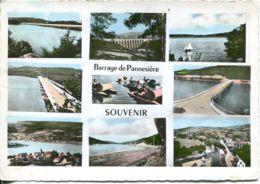 N°21 R -cpsm Souvenir -le Barrage De Pannesière- - Gruss Aus.../ Gruesse Aus...