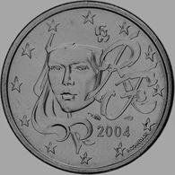 MONNAIE 5 Cent 2004 France Euro Fautée Non Cuivrée Etat Superbe - Variétés Et Curiosités