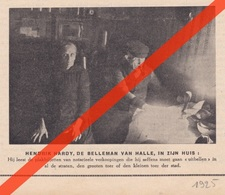 HALLE - DE BELLEMAN - HENDRIK HARDY - 1925 - Documents Historiques