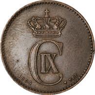 Monnaie, Danemark, Christian IX, 2 Öre, 1894, Copenhagen, TTB, Bronze, KM:793.2 - Denmark