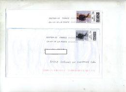 Lettre Flamme Chiffrée Sous Code Symbole Inégalité Sur Timbre En Ligne Elephant   Tarif - Marcophilie (Lettres)