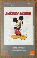 DISNEY MICKEY MOUSE THAÏLANDE ORANGE RECHARGE GSM PREPAID PRÉPAYÉE - Disney