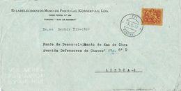ESTABELECIMENTOS MORO DE PORTUGAL ,  Conservas ,  Canned Fish , Funchal , Madeira , 1972 , Medieval  Knigth  1$50 Stamp - 1910-... Republic