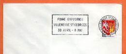 94 VILLENEUVE ST GEORGES   FOIRE  1966 Lettre Entière N° GH 309 - Annullamenti Meccanici (pubblicitari)