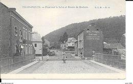 Trois-Ponts - Pont De La Salm Et Route De Bodeux - L.L.B. N°11 - 2 Scans - Trois-Ponts