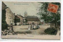71 FOUGEROLLES Place Charton Femmes Au Lavoir RARE   Couleur 1916 écrite Timb No 5836 Edit Beguin    D10 2020 - France