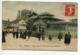 75 PARIS Métropolitain Une Gare Station Métro Bastille Belle Architecture Guimard Art Nouveau Fer Forgé  1     D10 2020 - Métro Parisien, Gares