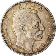 Monnaie, Serbie, Peter I, Dinar, 1915, Paris, TTB, Argent, KM:25.3 - Serbia