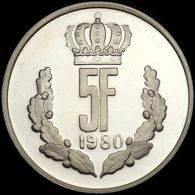 Luxembourg 5 Francs 1980 Proof Silver Jean Grand Duke - Luxembourg