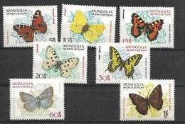 MONGOLIA 1963 BUTTERFLIES  MNH - Papillons