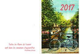 Petit Calendrier De Poche  2017  -    BICYCLETTE, Canal - Small : 2001-...