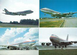 Luxembourg Cargolux 4 Cartes Boeing 747-400F Luxemburg Findel - Advertisements