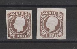 Yvert 13 + 13a (*) Neuf Sans Gomme - 1862-1884 : D.Luiz I
