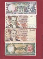 Equateur 13 Billets Dans L 'état (3 Billets ---50000 Sucres 1999 ---10000 Sucres 1995--10000 Sucres 1999 FORTE COTE UNC) - Ecuador