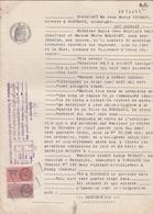 PAPIER TIMBRE BORDEAUX 1943 - VENTE GALY FERRAND VILLENAVE D'ORON COMPLEMENT EN FISCAUX - FILIGRANE 1941 ETAT FRANCAIS - Documents Historiques