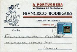 A PORTUGUESA . FRANCISCO RODRIGUES ,  Fábrica De Calçado , Shoes , Torrados  Felgueiras , 1972 , Pinhel Stamp - 1910-... Republic
