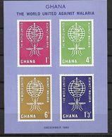 GHANA 1962 INSECTS, PALUDISM ERADICATION MNH - Medicine