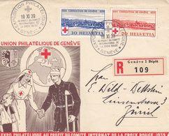 Suisse - 1/11/1939 - N° YT 342/343 - Lettre Recommandé Exposition Philatélique Genève - Zwitserland