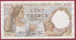"""100 Francs """"Sully"""" Du 19/06/1941.U.U---TTB+---ALPH .Q.23012 - 1871-1952 Antiguos Francos Circulantes En El XX Siglo"""