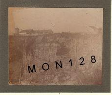 ENVIRONS DE MARQUISE (62) FERQUES LE HAUT BANC 1890 MOULIN A VENT CARRIERES DE MARBRE PHOTO COLLEE 9x7,5 Cms - Plaatsen