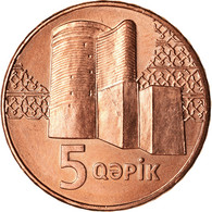 Monnaie, Azerbaïdjan, 5 Qapik, Undated (2006), SPL, Copper Plated Steel, KM:41 - Azerbaïjan