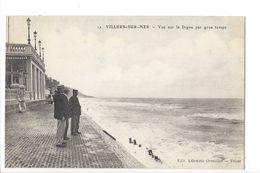 24974 - Villers-sur-Mer Vue Sur La Digue Par Gros Temps - Villers Sur Mer