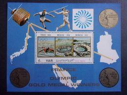 YEMEN JEMEN YAR MI-NR BLOC 181(BLEU) MNH/NEUF** FRANCE OLYMPIC GOLD MEDAL - Yémen