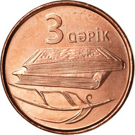 Monnaie, Azerbaïdjan, 3 Qapik, Undated (2006), SPL, Copper Plated Steel, KM:40 - Azerbaiyán